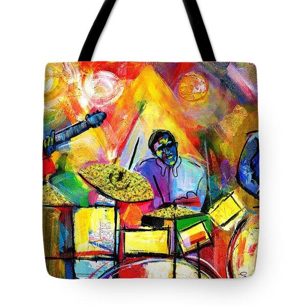 Jazz Trio Tote Bag by Everett Spruill