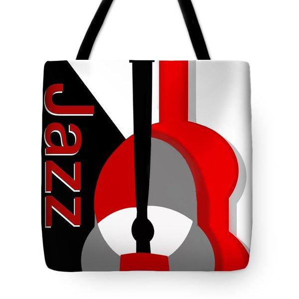Jazz Vibe Tote Bag by Christine Fournier
