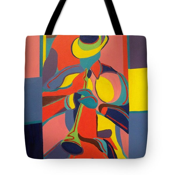 Jazzamatazz Horn Tote Bag