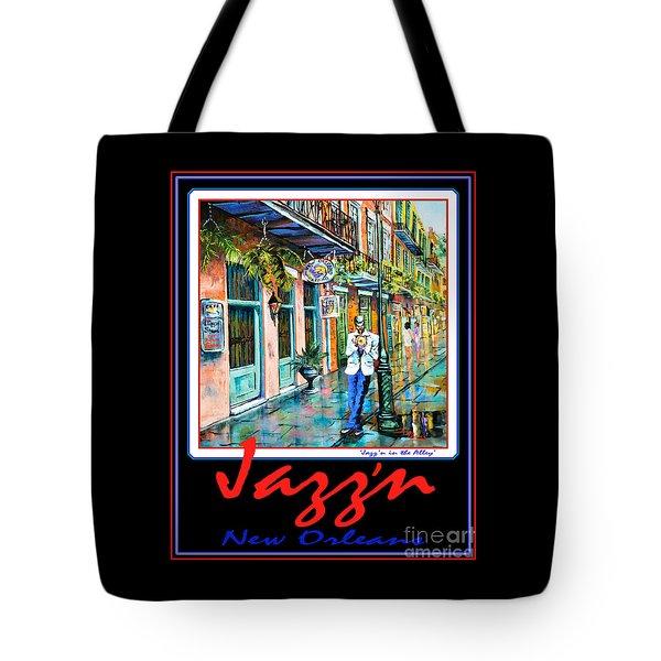 Jazz'n New Orleans Tote Bag by Dianne Parks