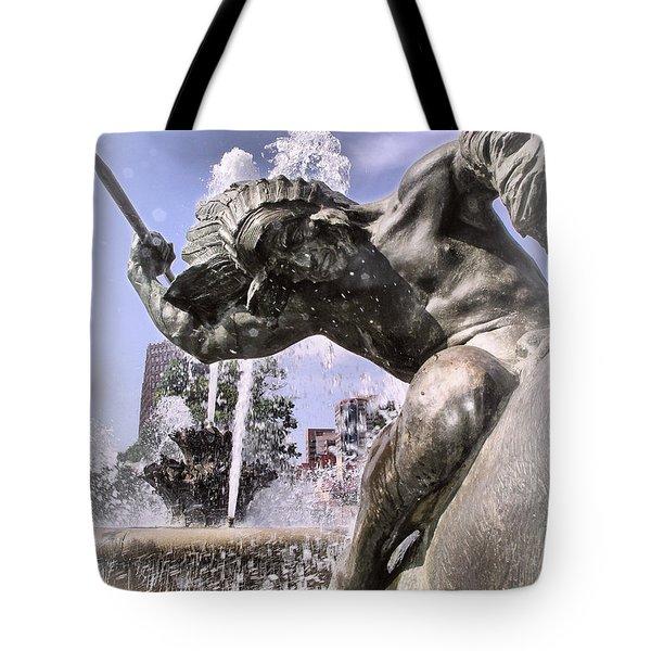 J.c. Nichols Fountain Kcmo Tote Bag