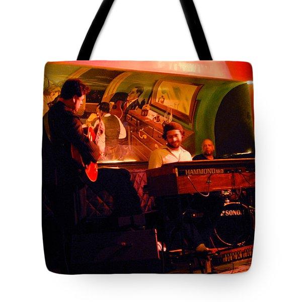 Jc Stylles At Mintons Playhouse Harlem Usa Tote Bag by Steve Archbold