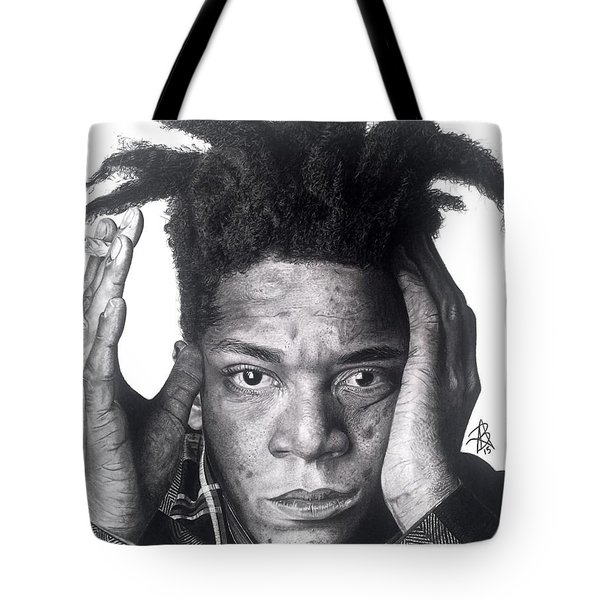 Jean-michel Basquiat Drawing Tote Bag