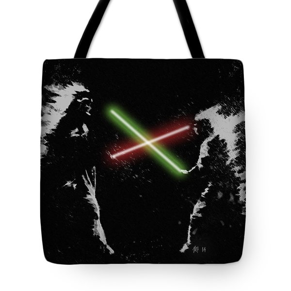 Jedi Duel Tote Bag by George Pedro