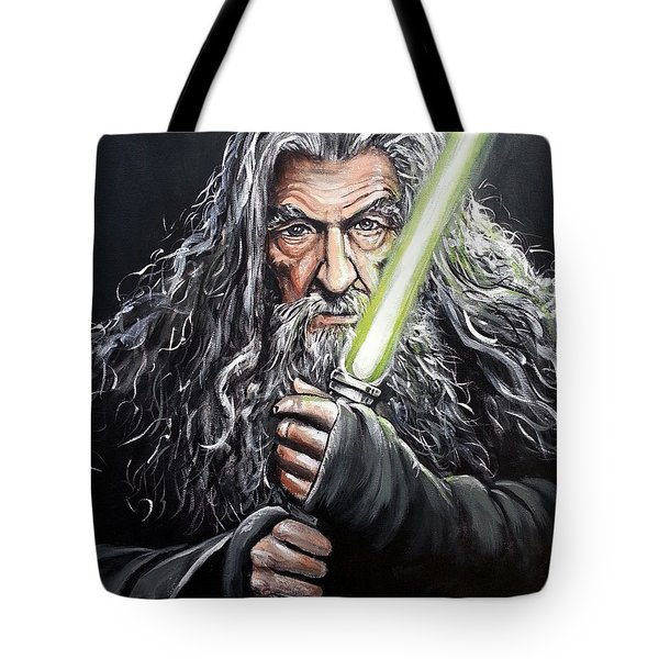 Jedi Master Gandalf Tote Bag by Tom Carlton
