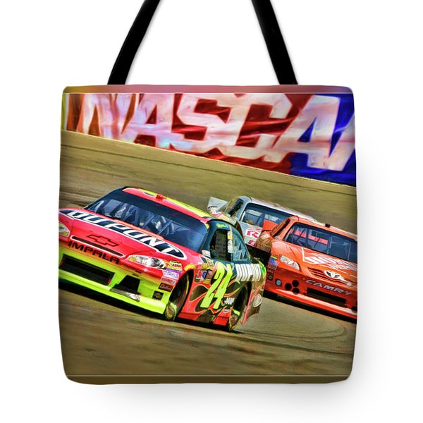 Jeff Gordon-nascar Race Tote Bag