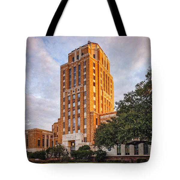 Jefferson County Courthouse At Sunrise - Beaumont East Texas Tote Bag