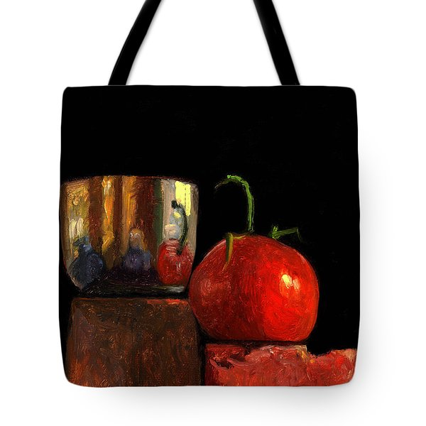 Jefferson Cup With Tomato And Sedona Bricks Tote Bag