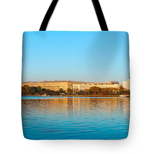 Jefferson Memorial And Washington Tote Bag