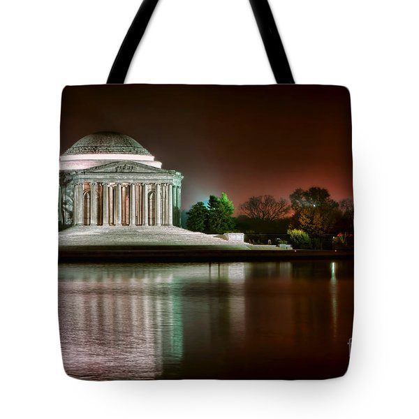 Jefferson Memorial At Night Tote Bag