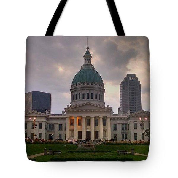 Jefferson Memorial Bldg Tote Bag by Chris Tarpening