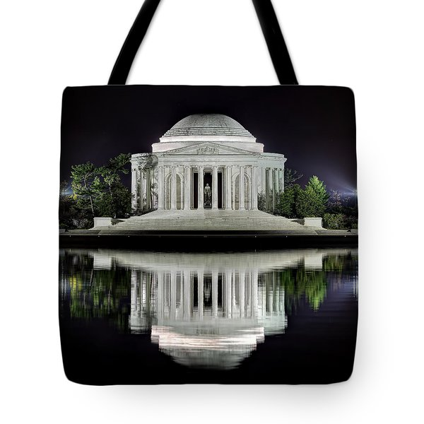 Jefferson Memorial - Night Reflection Tote Bag