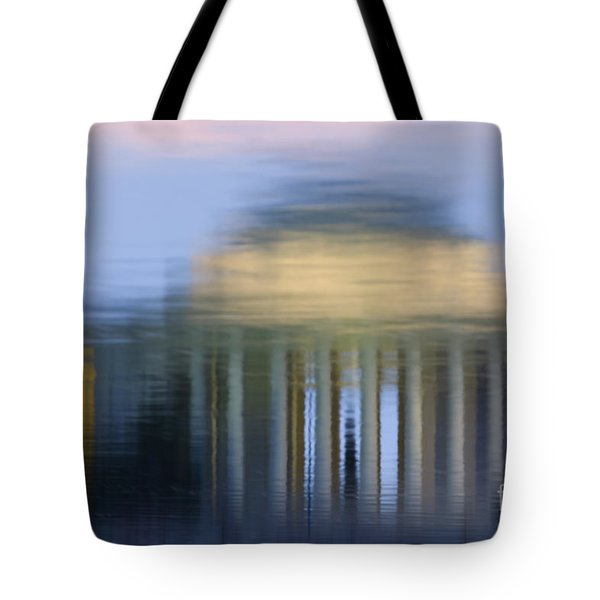 Jefferson Memorial Reflection Tote Bag by Clarence Holmes