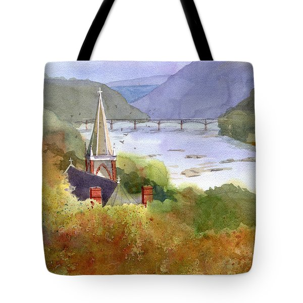 Jeffersons View Tote Bag by Kris Parins
