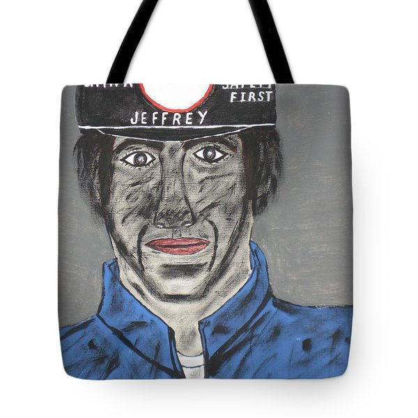 Tote Bag featuring the painting Jeffrey The Coal Miner by Jeffrey Koss