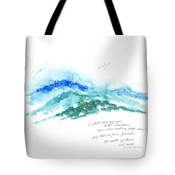 Jehovah Helps Us Tote Bag by B L Qualls