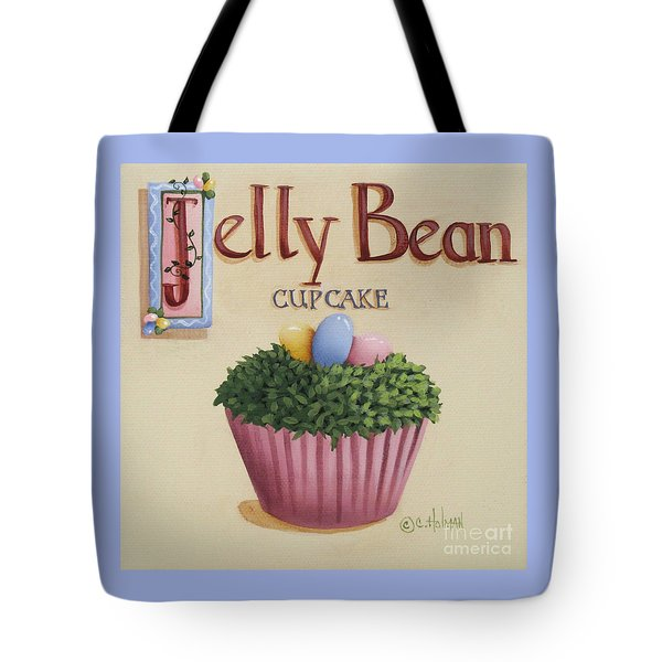 Jelly Bean Cupcake Tote Bag by Catherine Holman