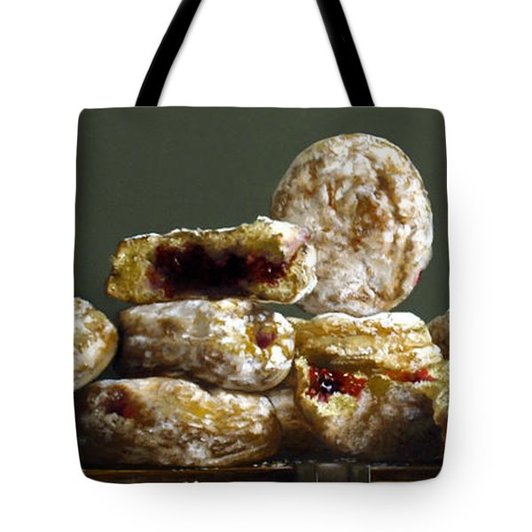 Jelly Donuts Tote Bag by Larry Preston