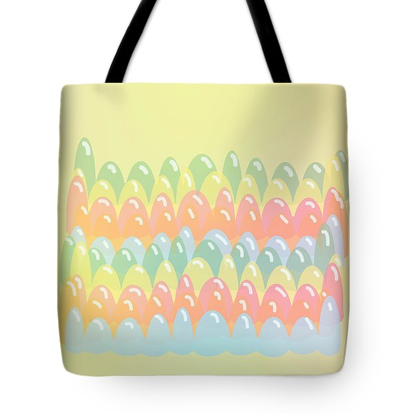 Tote Bag featuring the digital art Jelly Stripy Fun by Lenny Carter