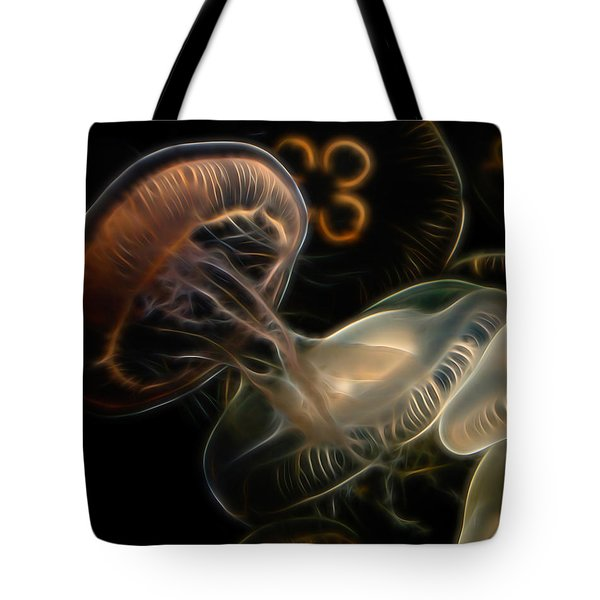 Jellyfish Digital Art Tote Bag by Ernie Echols