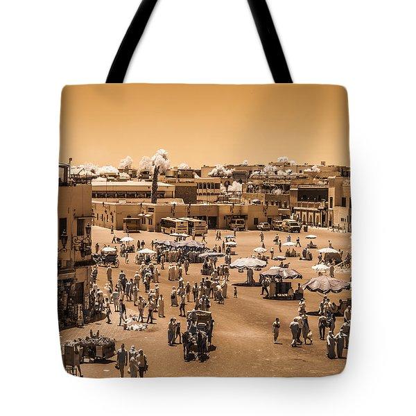 Jemaa El Fna Market In Marrakech At Noon Tote Bag
