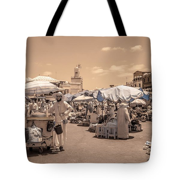 Jemaa El Fna Market In Marrakech Tote Bag