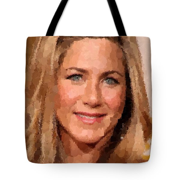 Jennifer Aniston Portrait Tote Bag