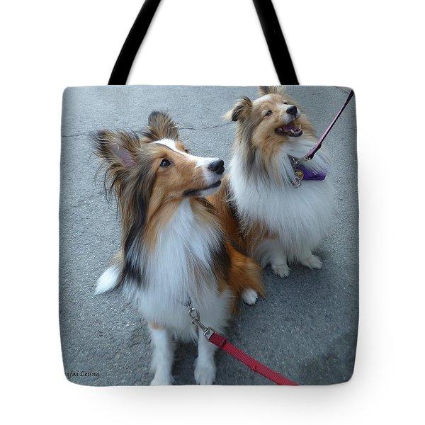 Jenny And Precious Tote Bag by Lingfai Leung