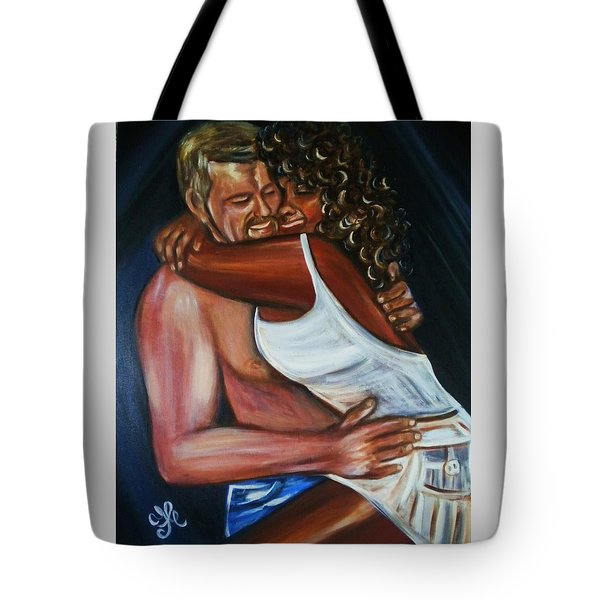 Jenny And Rene - Interracial Lovers Series Tote Bag