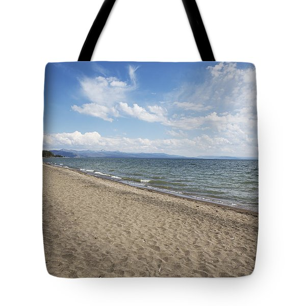 Tote Bag featuring the photograph Yellowstone Lake by Belinda Greb