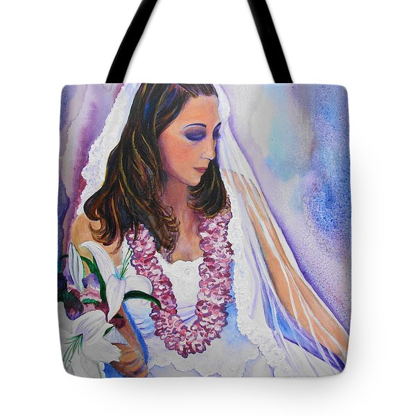 Tote Bag featuring the painting Jenny by Margaret Bobb