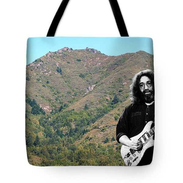 Jerry Garcia And Mount Tamalpais Tote Bag
