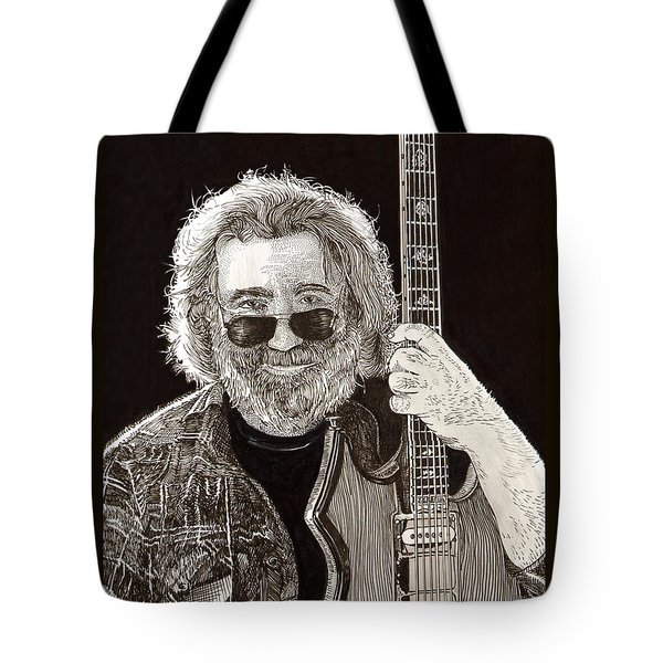 Jerry Garcia String Beard Guitar Tote Bag