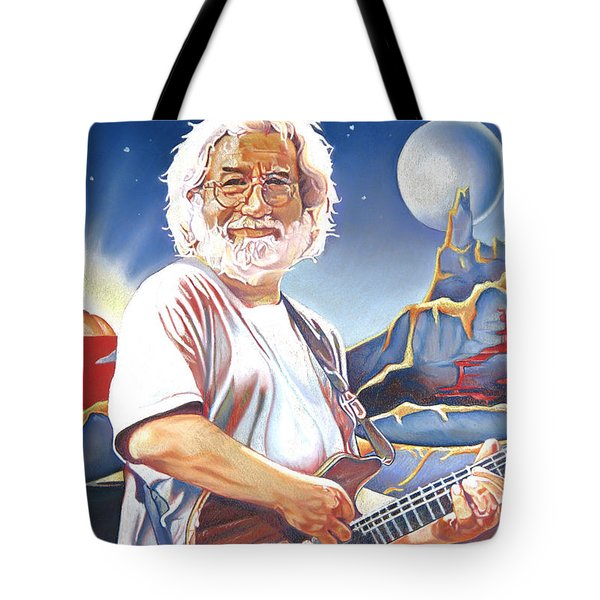 Jerry Garcia Live At The Mars Hotel Tote Bag by Joshua Morton