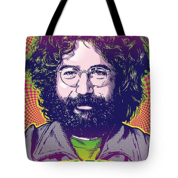 Jerry Garcia Pop Art Tote Bag
