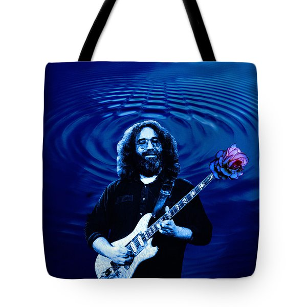 Blue Ripple Rose Tote Bag by Ben Upham