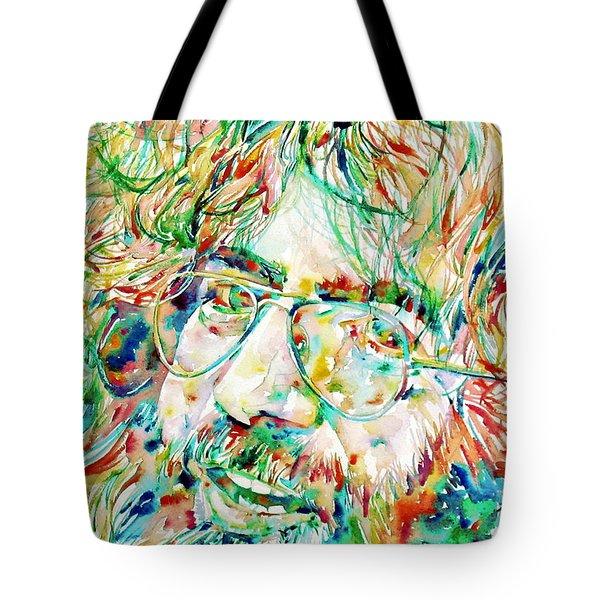 Jerry Garcia Watercolor Portrait.1 Tote Bag