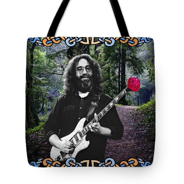 Jerry Road Rose 1 Tote Bag by Ben Upham