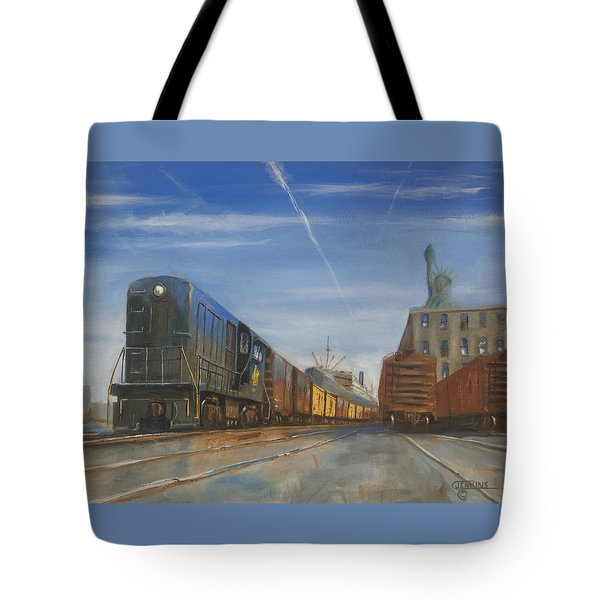 Jersey Central Lines Tote Bag by Christopher Jenkins