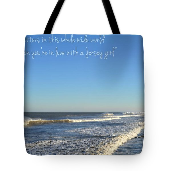 Jersey Girl Seaside Heights Quote Tote Bag