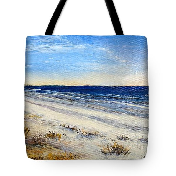 Jersey Shore Tote Bag by Eileen Lovre