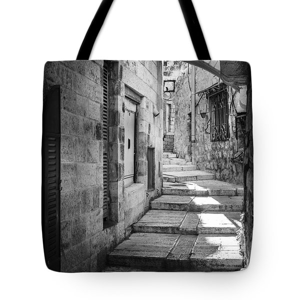 Jerusalem Street Tote Bag by Alexey Stiop