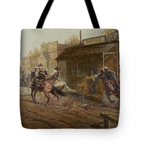 Jesse James Bank Robbery Tote Bag
