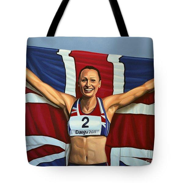 Jessica Ennis Tote Bag by Paul Meijering