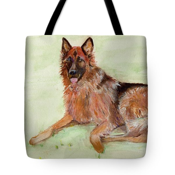 Jessie-painting Tote Bag by Veronica Rickard