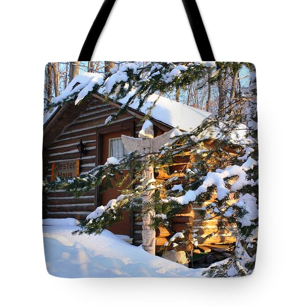 Tote Bag featuring the photograph Jester Haus by Pat Purdy