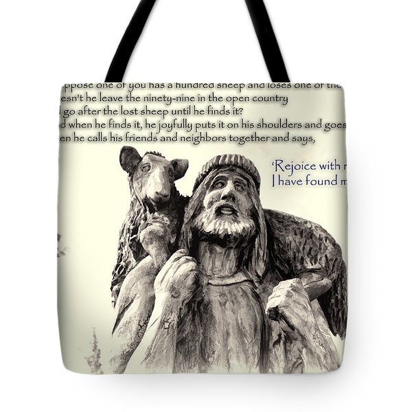 Jesus And Lamb Tote Bag