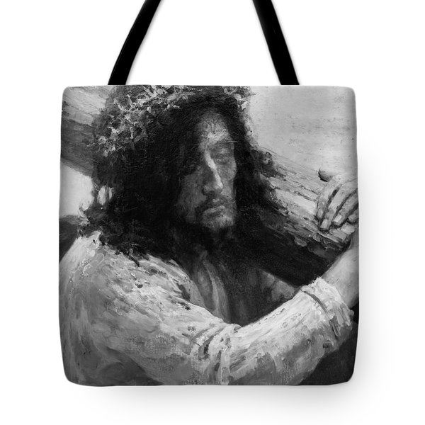 Jesus Carrying The Cross Circa 1898  Tote Bag by Aged Pixel