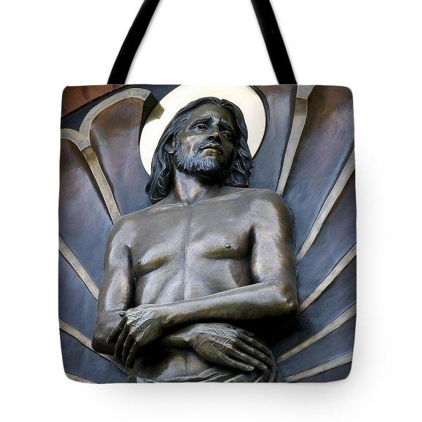 Jesus Cathedral Icon -  Spokane Washington Tote Bag by Daniel Hagerman