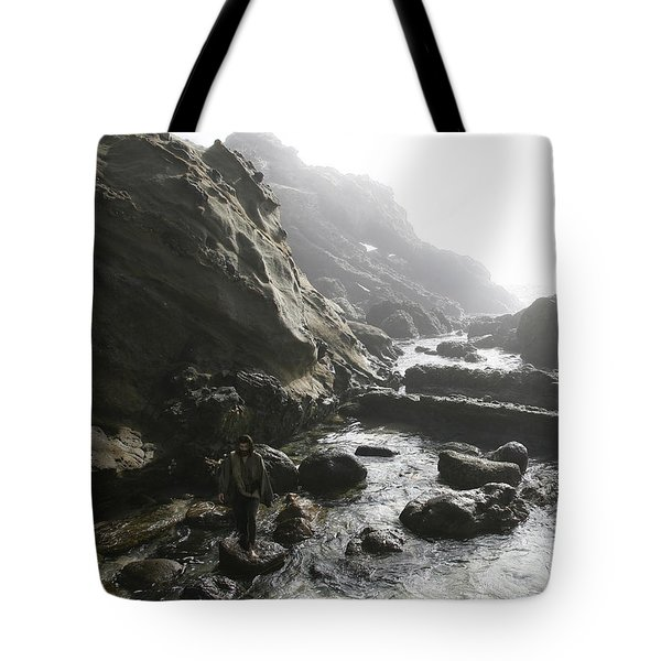 Jesus Christ- In The Presence Of Angels Tote Bag